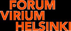Forum Virium Helsinki Oy:n logo oranssinpunaisilla kirjaimilla.