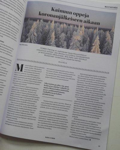Pohjoisen kulttuurilehti Kaltion aukeama.